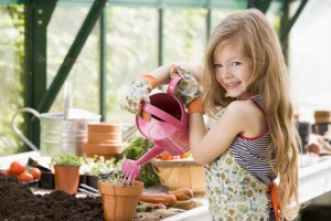 Girl watering Spring flowers1 300x200 Stock Photography – Are you on the Buyer's Schedule?