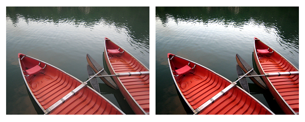 boat comparison Using Levels in Photo Editing to Adjust Tonal Contrast