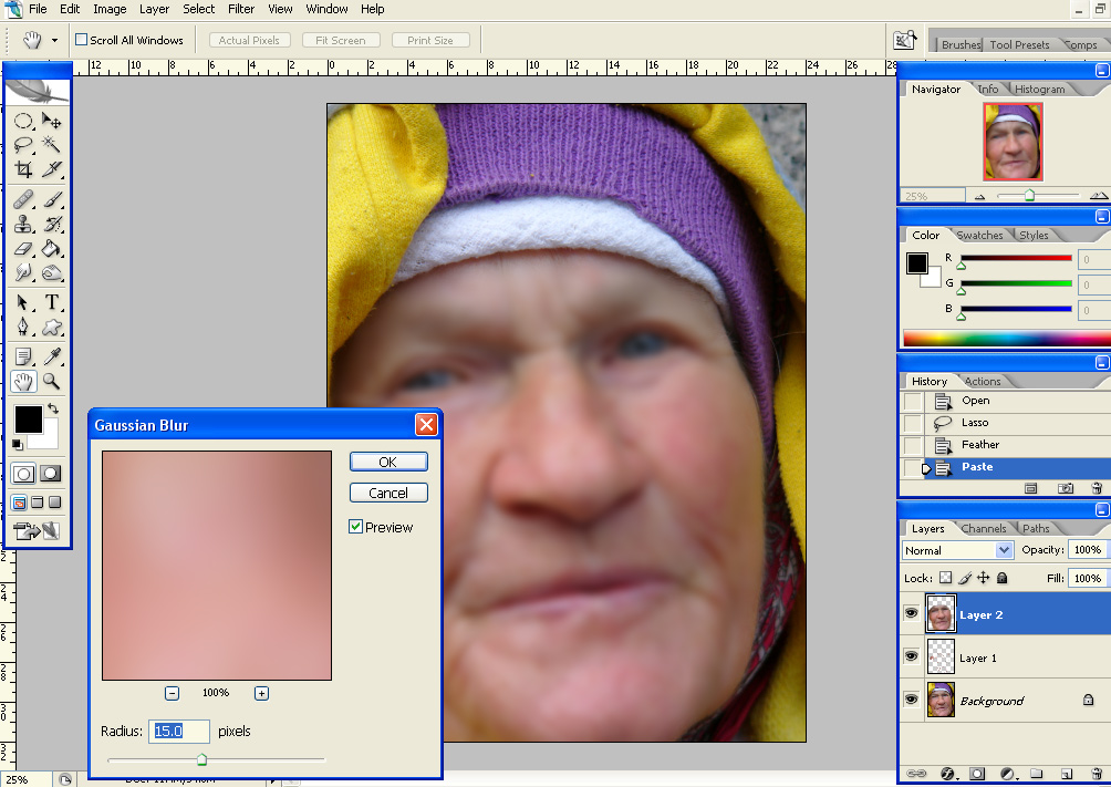 gausblur Quick Skin Retouching, Part 2: Skin Smoothing Using Gaussian Blur