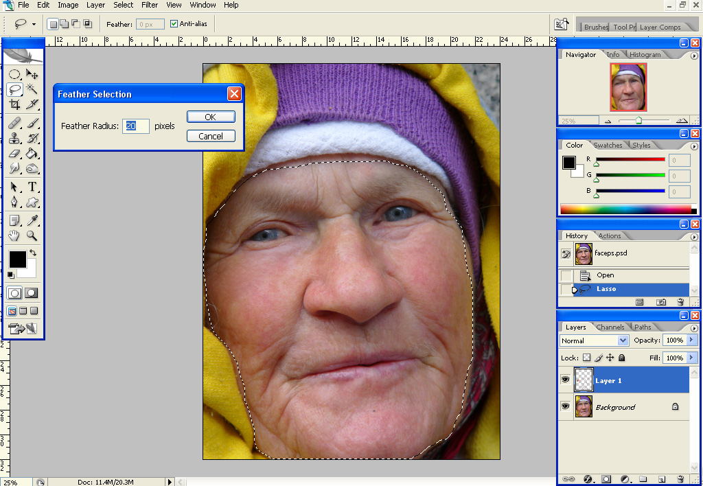 gausfeather Quick Skin Retouching, Part 2: Skin Smoothing Using Gaussian Blur