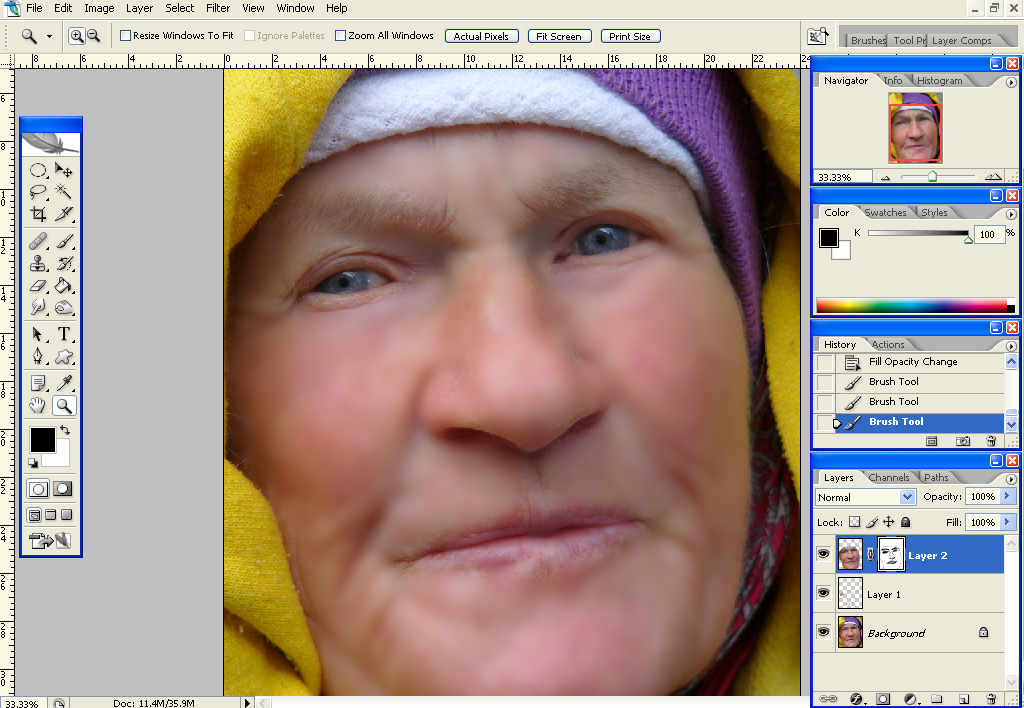 gausmask Quick Skin Retouching, Part 2: Skin Smoothing Using Gaussian Blur