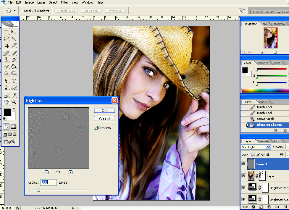 hpcont2hp Using the High Pass Filter to Boost Image Contrast